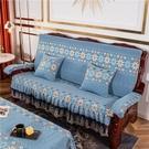 沙發墊 實木沙發墊帶靠背加厚海綿中式紅木質木沙發墊聯邦椅墊防滑可拆洗