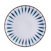 藍黛陶瓷8吋平盤-同心圓
