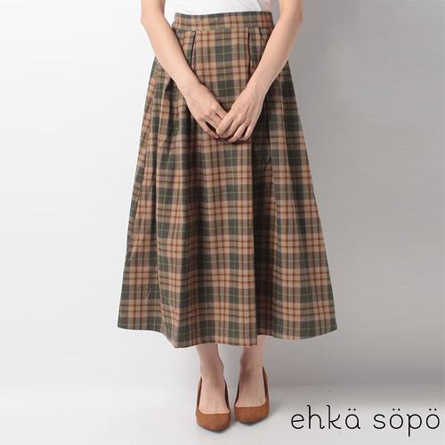 「Hot item」定番格紋ALINE中長裙 (提醒-SM2僅單一尺寸) - Sm2
