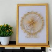 鐵塔摩天輪 毛線纏繞畫手工裝飾畫紗線弦絲