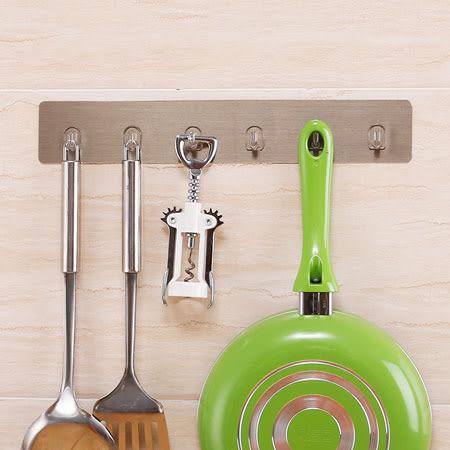 無痕貼系列 簡約六連排勾 無痕 廚房 衛浴 門後 掛勾 排勾 掛鉤 耐重