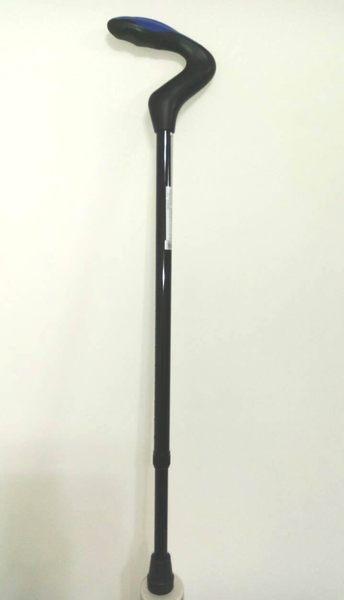 雃博醫療用手杖(未滅菌)  單手拐杖 藍色TPR軟質握把