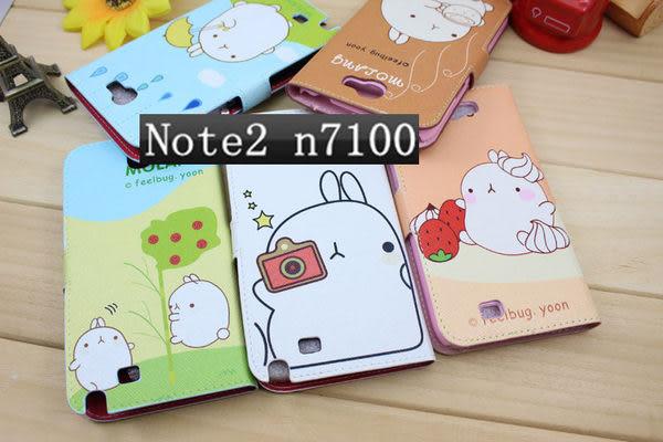 note 現貨免運 三星Samsung Galaxy note1/note 2  可愛土豆兔+貓咪 手機套