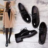 小皮鞋女春季新款韓版百搭學生原宿英倫風平底黑色單鞋女鞋子 可然精品
