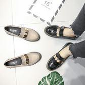 春季女鞋子2019新品潮百搭正韓樂福鞋女學生社會英倫風小皮鞋單鞋