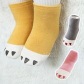 韓國獸爪加厚毛圈止滑短襪 童襪 止滑襪 短襪