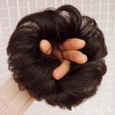 假髮全真人髮假髮髮圈捲髮丸子頭假髮包半丸子頭花苞頭捲髮圈髮髻 熱賣單品