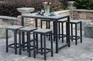 【南洋風休閒傢俱】吧台桌椅系列-塑木戶外吧台桌椅組 適 居家 庭院 室內 民宿 餐廳(PT-128)