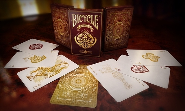【USPCC 撲克】Bicycle collector s deck-酒紅色