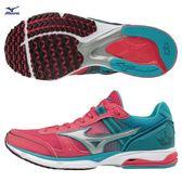 MIZUNO WAVE EMPEROR 3 女鞋 慢跑 透氣  耐磨 輕量 高避震 粉紅 銀 藍  【運動世界】 J1GB187609