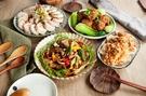 輕省組合餐(醋漬野菇沙律1入、蔥油雞捲1入、紅燒獅子頭1入、豆瓣驢魚1入)