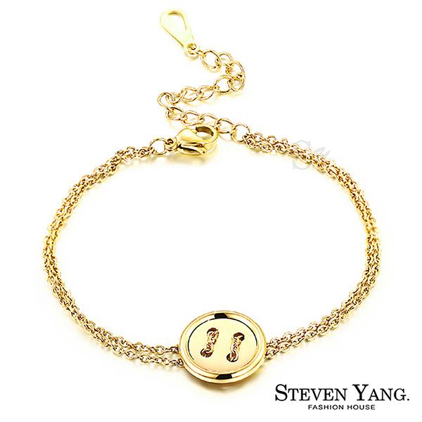 手鍊 西德鋼飾「幸運鈕扣」金色款 朴信惠韓劇相似款 現貨+預購