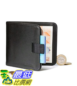 [107美國直購] 錢包 Distil Union - Wally Euro, Slim Leather Wallet with Coin Pouch and Money Clip