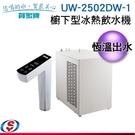 【信源】免費安裝  【賀眾牌】櫥下型冰熱飲水機 UW-2502DW-1 / UW2502DW
