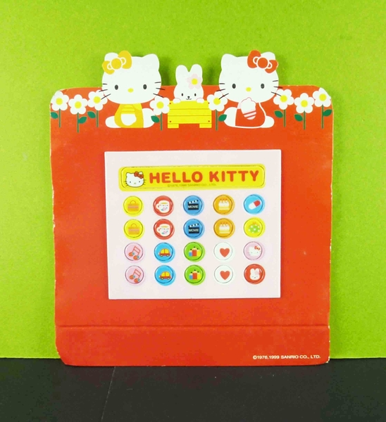 【震撼精品百貨】Hello Kitty 凱蒂貓~留言板附磁鐵-紅花園