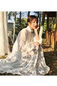 連身裙新款仙氣裙子初戀復古蛋糕裙雪紡洋裝【販衣小築】