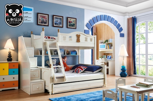 【大熊傢俱】Bb 2019 兒童床 組合床 子母床  雙層床  三抽托床 梯櫃 書桌 書椅 五斗櫃