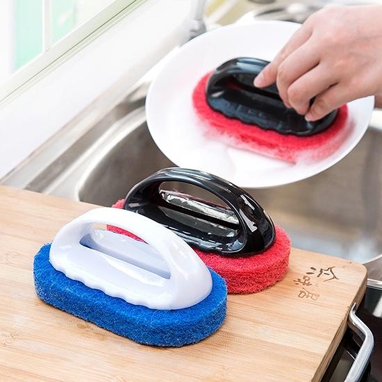 海綿刷 菜瓜布 刷子 洗碗刷 廚房 纖維刷 浴缸 抽油煙機 磁磚 手柄 清潔刷 【K054】米菈生活館