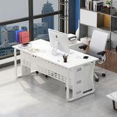 辦公桌老板簡約現代單人書桌簡易電腦桌經理轉角大班桌電腦臺式桌  星空小鋪
