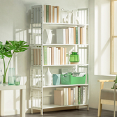 楠竹白色五層書架90CM 收納架 書架 展示架 置物架 層架 【Y10252】快樂生活網