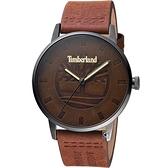 Timberland 天柏嵐 經典皮革紋面盤時尚錶(TBL.16076JSU/12)44mm