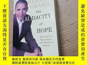 二手書博民逛書店BARACK罕見OBAMA THE AUDACITY of HOPE[大無畏的希望Y280247 出版2