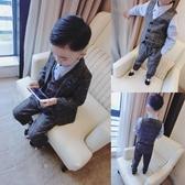 兒童禮服男小童洋氣套裝2019兒童西裝男童2-3-4-5-6-7歲潮寶寶禮服三件套【星時代女王】