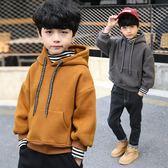 男童衛衣新款純棉假兩件打底衫男孩加絨加厚秋冬兒童加絨衛衣
