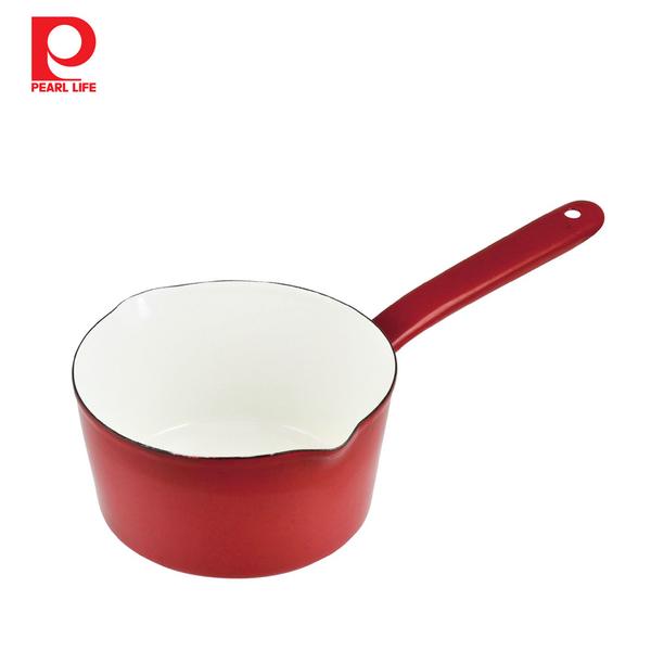 【日本珍珠金屬】琺瑯單柄牛奶鍋-15cm