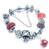 串珠手鍊-琉璃水晶飾品紅色生日情人節禮物女配件73bo97【時尚巴黎】