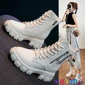 馬丁靴 馬丁女鞋2021年新款秋冬季棉鞋百搭顯腳小保暖加絨英倫風瘦瘦短靴 寶貝計畫
