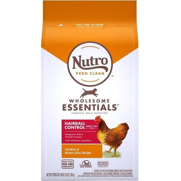 *KING*美士NUTRO《全護營養系列-成貓有效化毛配方(農場鮮雞+糙米)》5磅/2.26kg 貓糧 一至七歲成貓