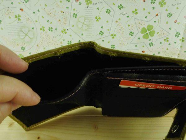 【震撼精品百貨】日本製蕾絲皮夾~短夾-墨綠色