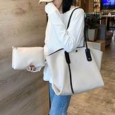 托特包 包包2021新款潮韓版手提單肩包大容量女包時尚百搭ins超火托特包 歐歐