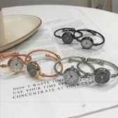 手錶女學生女士手鐲手?式韓版簡約文藝氣質細帶復古小巧錶盤 萬聖節