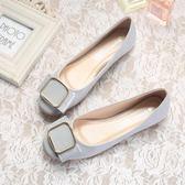 漆皮鞋 平底鞋女淺口平底單鞋 漆皮瓢鞋大碼女鞋40-43船鞋    琉璃美衣
