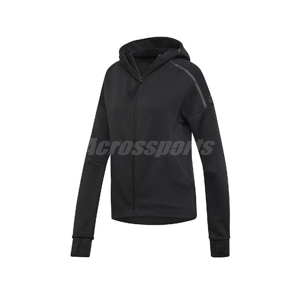 adidas 外套 Z.N.E. Hoodie 黑 女款 連帽外套 運動休閒 【ACS】 EJ8748