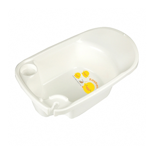 【奇買親子購物網】黃色小鴨新生兒多功能浴盆(白/黃)+貝恩Baan 嬰兒泡泡香浴露/200ml*1