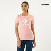 CONVERSE-女款粉色休閒運動短袖上衣-NO.10009152-A11