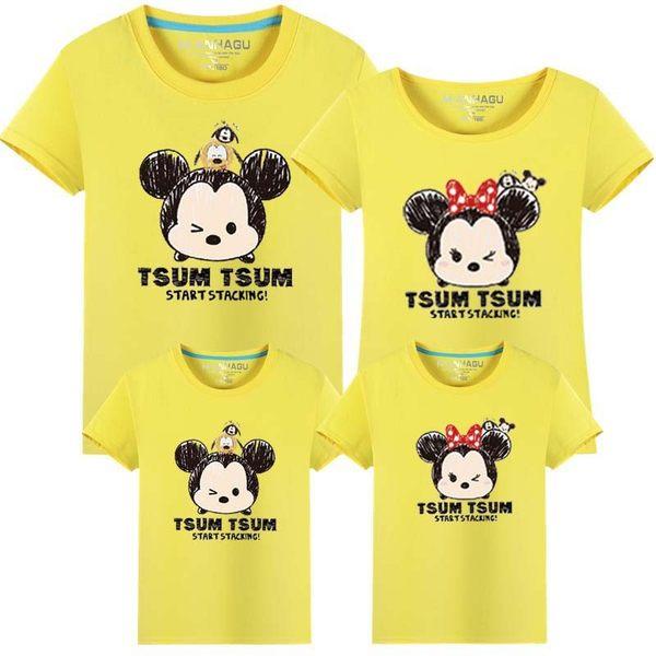 親子裝。米奇家族圓領短袖T恤(男女童)  *繪米熊童裝*(AB70403)