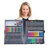 168件套繪畫套裝文具禮盒畫畫工具畫筆水彩筆蠟筆油畫棒彩鉛粉餅WD 初語生活館