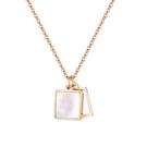 鈦鋼項鍊 時尚設計個性貝殼款鈦鋼流行項鍊