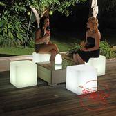 Led發光方形燈戶外活動防水茶幾庭院燈jy發光立方體酒吧咖啡桌椅子【618又一發好康八九折】