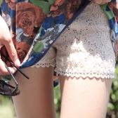 漂亮小媽咪 蕾絲托腹褲 【P5002TZ】 燒花 鏤空 孕婦短褲 孕婦褲 孕婦裝