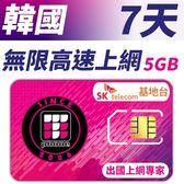 【TPHONE上網專家】韓國 高速上網卡 7天無限上網 (前面5GB 支援4G高速)