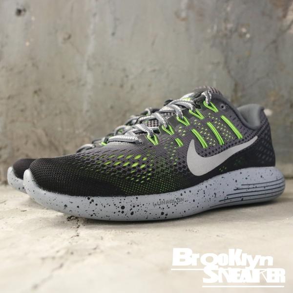 NIKE LUNARGLIDE 8 SHIELD 灰螢綠 潑墨底 慢跑鞋 女 (布魯克林) 849569-007