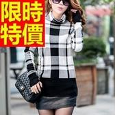 女款毛衣高領時尚俏麗-正韓羊毛保暖長袖女針織衫5色63aa17【巴黎精品】