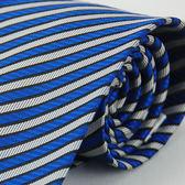 【Alpaca】藍白斜紋領帶