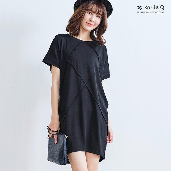 素色立體棉線連身裙