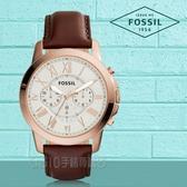 FOSSIL 手錶 專賣店 FS4991 男錶 石英錶 皮革錶帶 防水 強化玻璃鏡面  全新品 保固一年 開發票